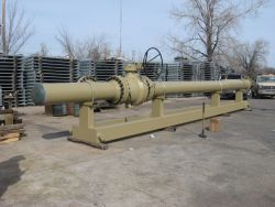 "16"" ANSI 600 Pig Launcher skid mounted by BKW Inc."